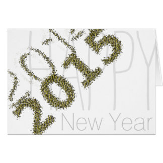 2014- 2015 Happy New Year - Gold Dust -2- Greeting Card
