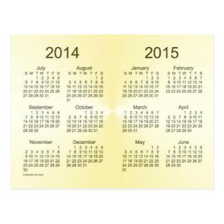 2014-2015 School Year Gold Mini Calendar by Janz Postcards