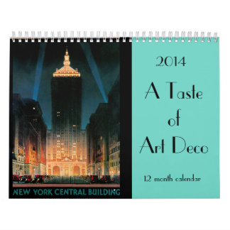 2014 A Taste of Art Deco Wall Calendars