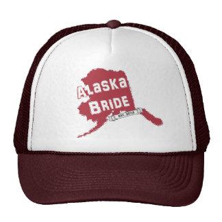 2014 AK Bride Map Trucker Hat in Red