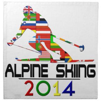 2014: Alpine Skiing Printed Napkins