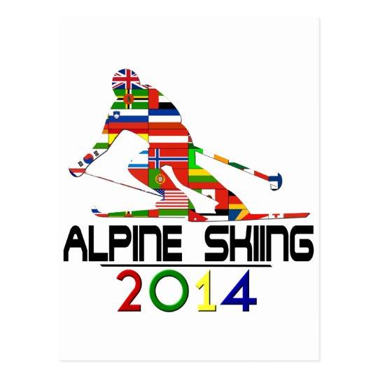 2014: Alpine Skiing Postcard