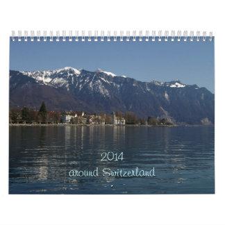 2014 alrededor de Suiza Calendario De Pared