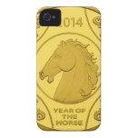 2014 AÑOS DE LA MONEDA DE ORO DEL CABALLO iPhone 4 Case-Mate CARCASA