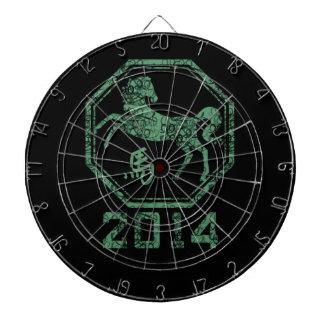2014 años del caballo en la astrología china tablero de dardos