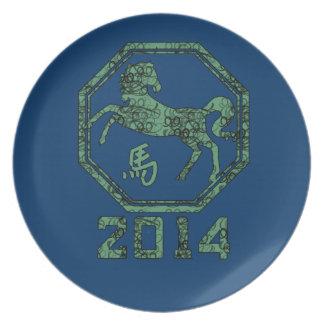 2014 años del caballo en la astrología china plato para fiesta