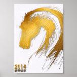2014 años del caballo - poster