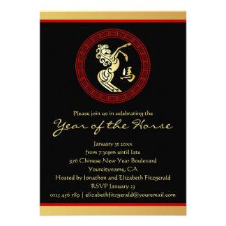 2014 años del fiesta chino del Año Nuevo de GR del Invitaciones Personalizada