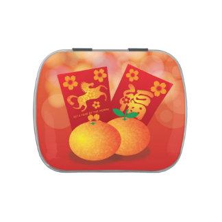 2014 Años Nuevos chinos de la mandarina del caball Jarrones De Caramelos