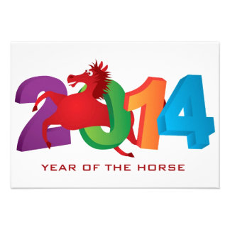 2014 Años Nuevos chinos rojos abstractos del cabal Comunicado