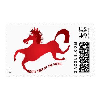2014 Años Nuevos chinos rojos abstractos del Envio