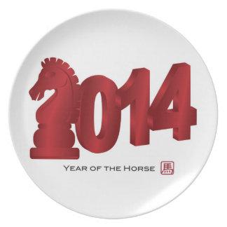 2014 Años Nuevos lunares chinos de la placa del ca Platos De Comidas