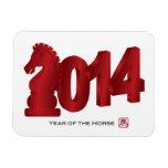 2014 Años Nuevos lunares chinos del imán del cabal