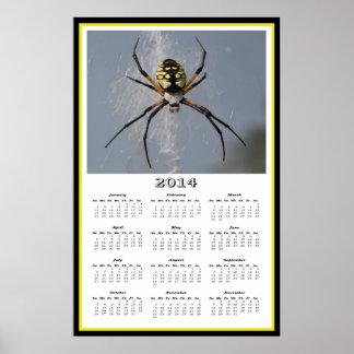 2014 Argiope Garden Spider Calendar Posters