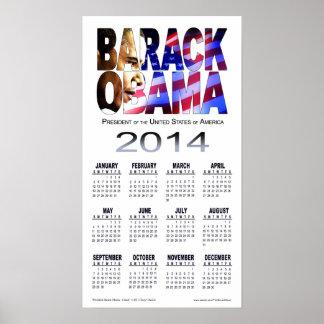 2014 Barack Obama Cutout Calendar | white Poster