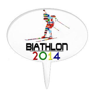 2014: Biathlon Figura Para Tarta