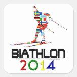 2014: Biathlon Pegatina Cuadrada