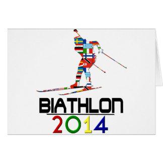 2014: Biathlon Tarjeta De Felicitación