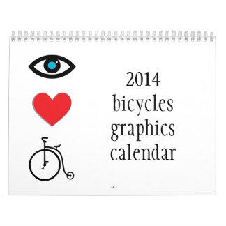2014 bicis y calendario temático de ciclo