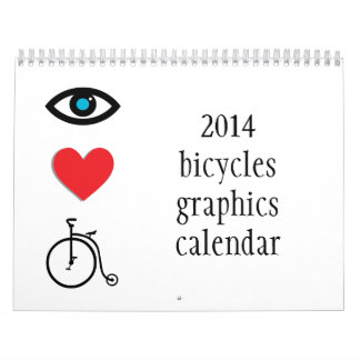 2014 bikes and cycling themed calendar