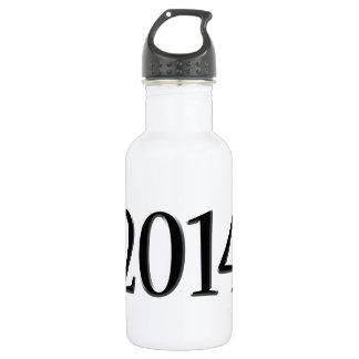 2014 Black 3D Graduation Stainless Steel Water Bottle
