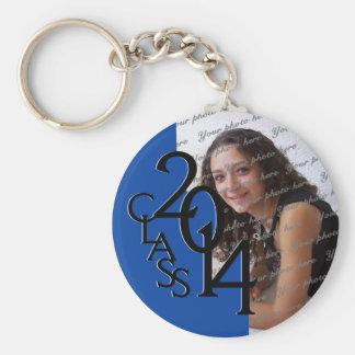 2014 Blue Graduation Keepsake Keychain