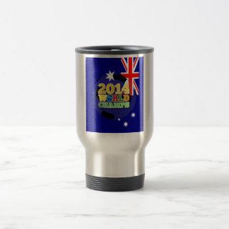 2014 bola de los campeones del mundo - Australia Taza De Viaje De Acero Inoxidable