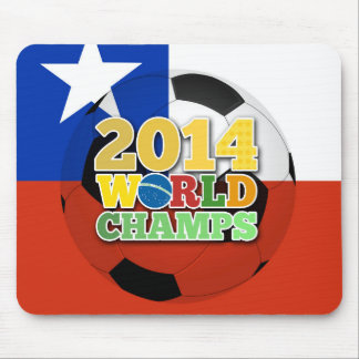 2014 bola de los campeones del mundo - Chile Mouse Pads