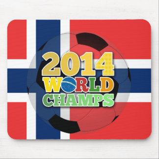 2014 bola de los campeones del mundo - Noruega Alfombrillas De Ratones