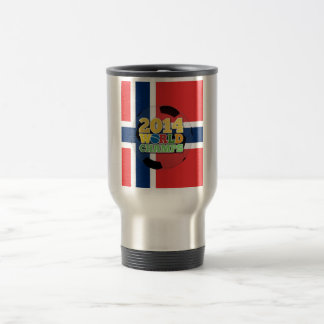 2014 bola de los campeones del mundo - Noruega Taza De Viaje De Acero Inoxidable
