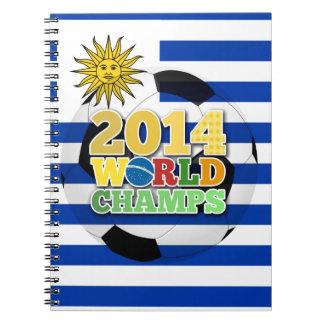 2014 bola de los campeones del mundo - Uruguay Libro De Apuntes Con Espiral