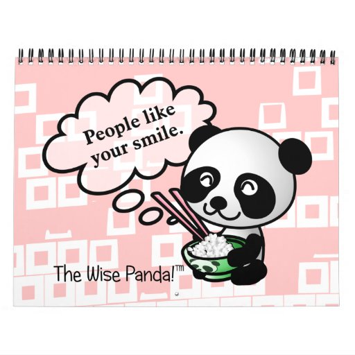 2014 buenas fortunas de la panda sabia calendarios de pared
