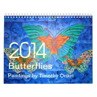 2014 Butterflies~ Paintings by Timothy Orikri Calendar