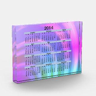 2014 Calendar Abstract Rainbow Acrylic Block