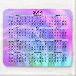 2014 Calendar Abstract Rainbow Mousepad