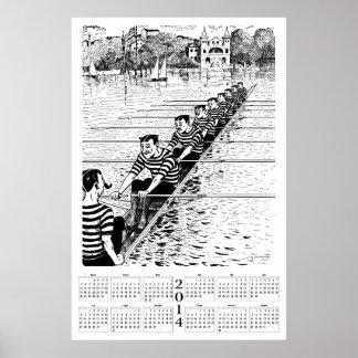 2014 Calendar - All In A Row Poster