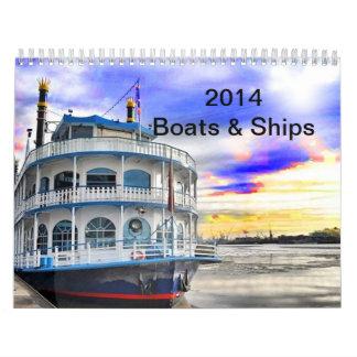 2014 Calendar Boats and Ships