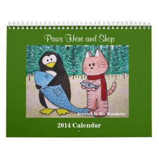 2014 Calendar by Paws Here and Shop