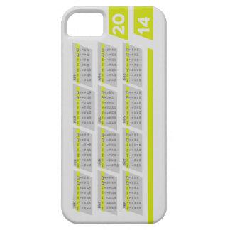 2014 Calendar Case for iPhone 5 / 5S -Left Handed