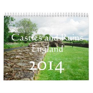 2014 calendar, Castles and Ruins in England Calendar
