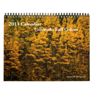 2014 Calendar Colorado Fall Colors