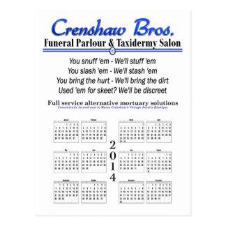 2014 Calendar - Crenshaw's Jingle Postcard
