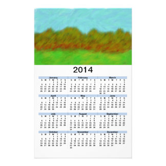 2014 Calendar_Digital Painting Hills Personalized Flyer