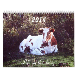 2014 calendar featuring farm scenes.
