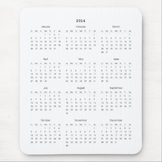 2014 Calendar Gifts Mouse Pad