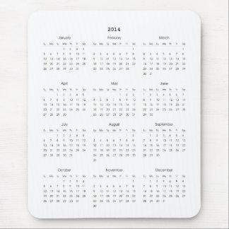 2014 Calendar Gifts Mouse Mats