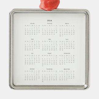 2014 Calendar Gifts Christmas Tree Ornament