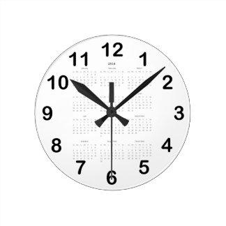 2014 Calendar Gifts Round Clock