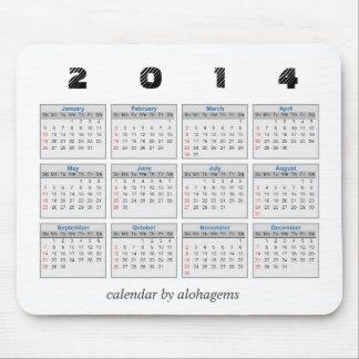 2014 Calendar Mousepad