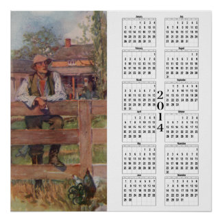 2014 Calendar - On The Fence Poster